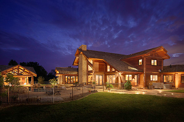 Log Home Bowling Green Residence