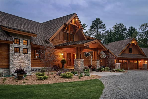 Hybrid Log & Timber Frame Eagle River Residence