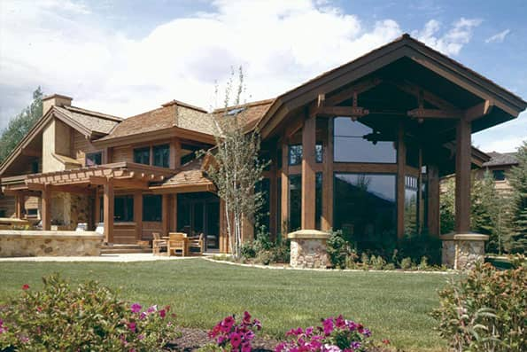 Timber frame Ketchum Residence