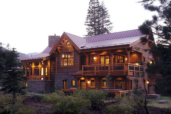 Timber frame Mammoth Lakes Residence