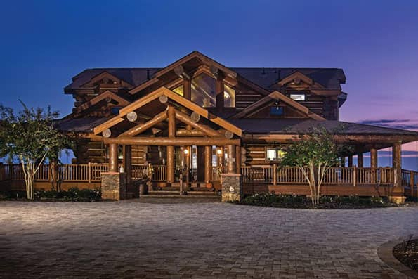 Handcrafted Log Home Norwood Residence