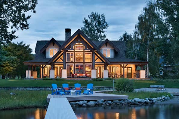 Timber frame Okanogan Residence