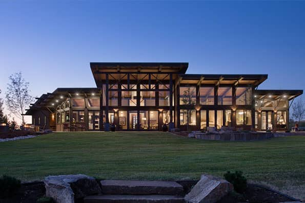 Timber frame Red Lodge Residence
