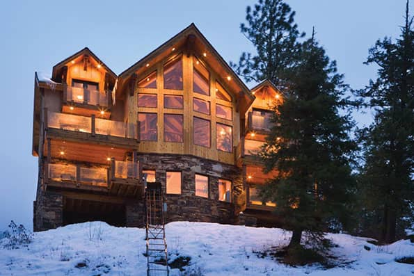 Timber frame Sandpoint Residence