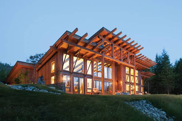 Timber frame Suncadia Residence