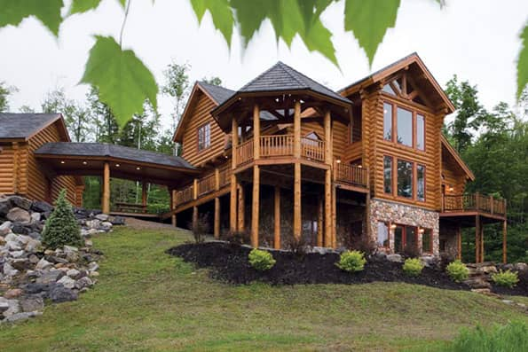 Log home Sunday River Residence