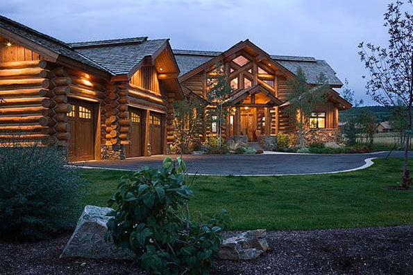 Handcrafted Log Home Teton Springs Residence